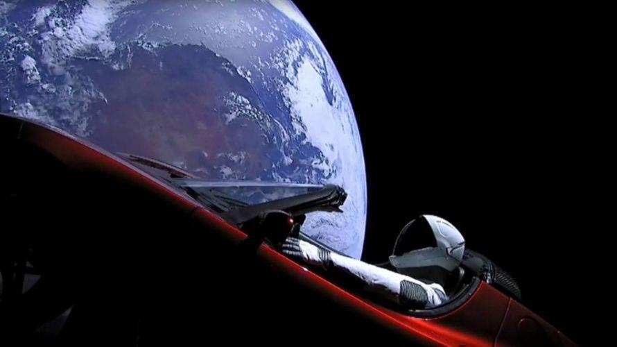 Scope captures images of Tesla in space