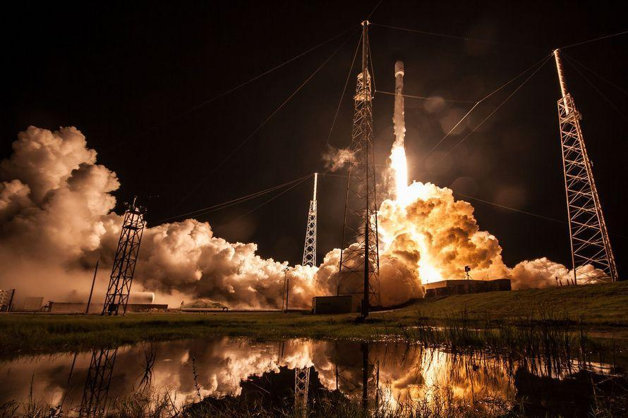SpaceX Launches Communications Satellite on 2nd-Ever Flight of New Rocket